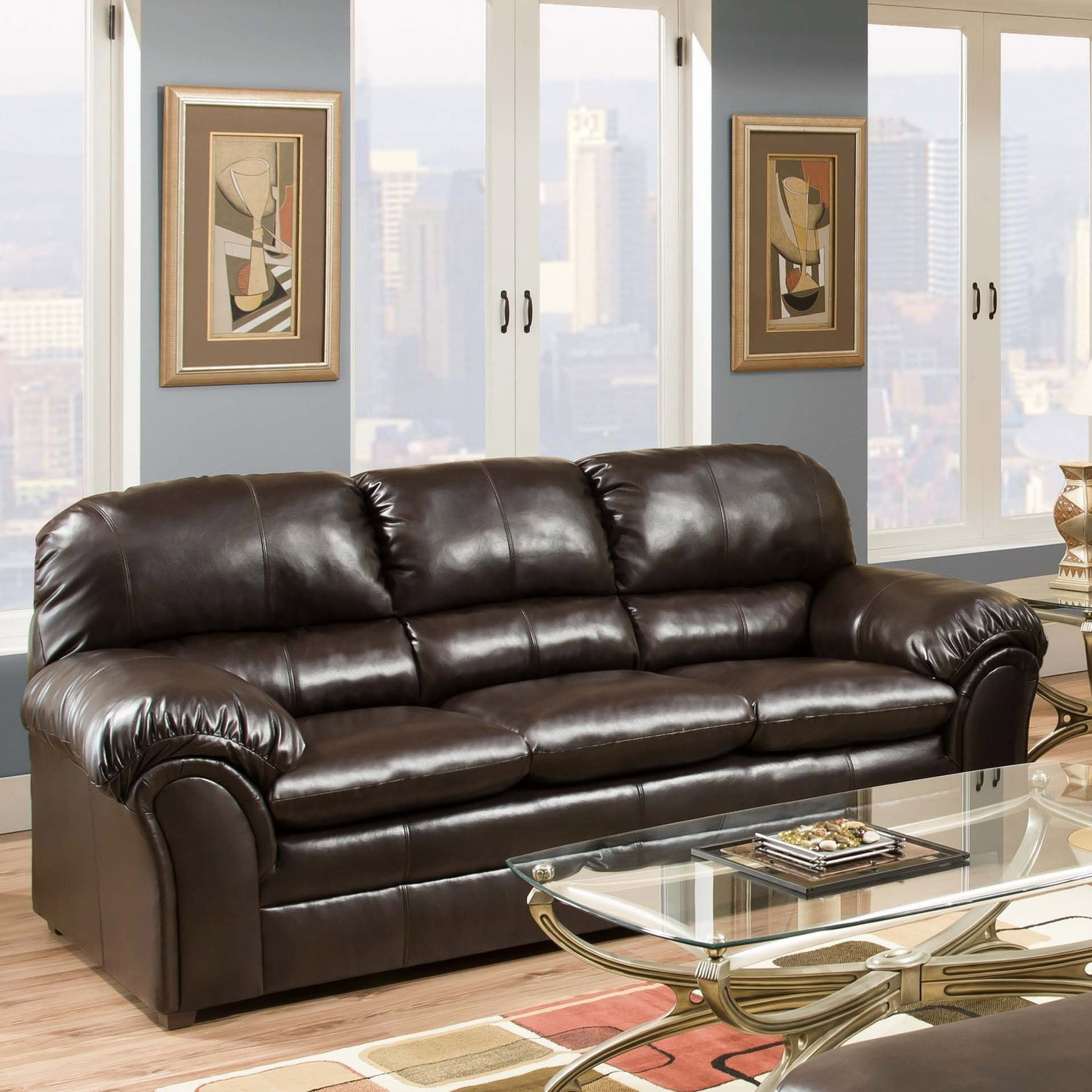with sleeper leather queen sofa faux