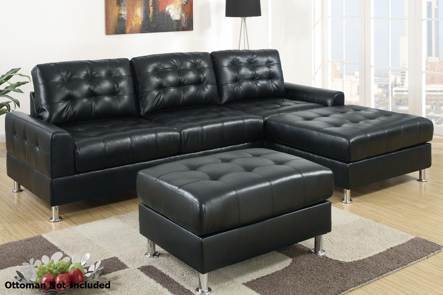 Beautiful Black Leather Sectional Sofa 86 For Sofa Room Ideas With Black  Leather Sectional Sofa