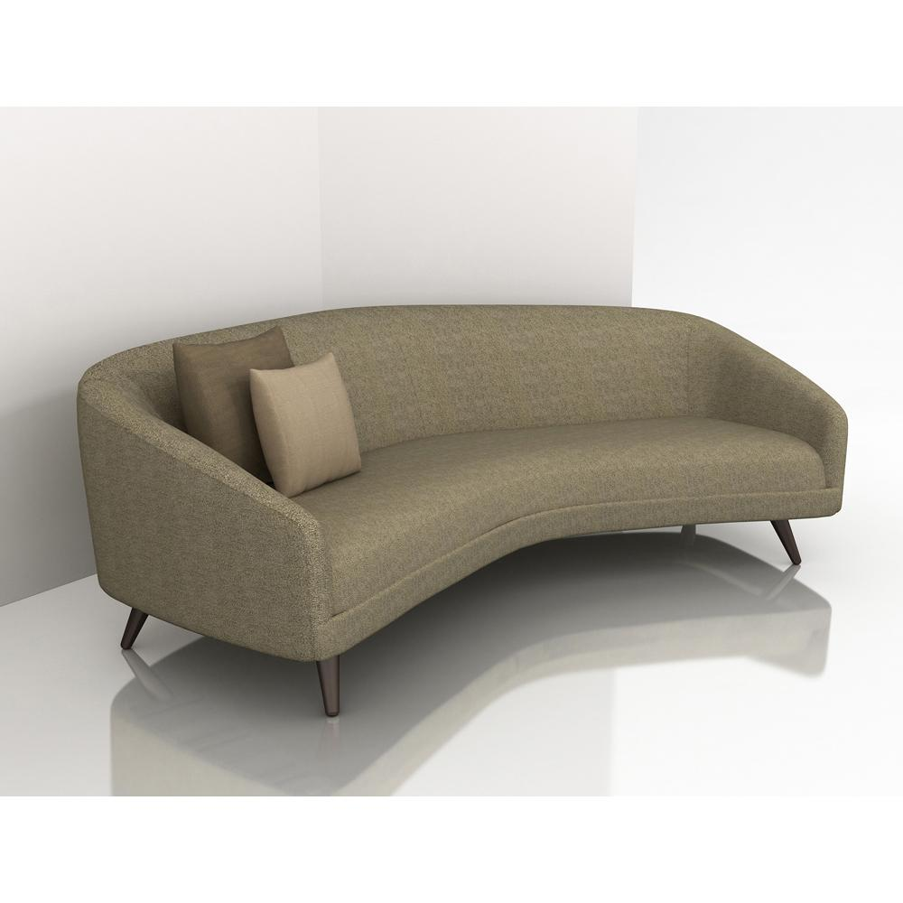 Small curved sofa small curved sectional sofa couch foter for Small settee