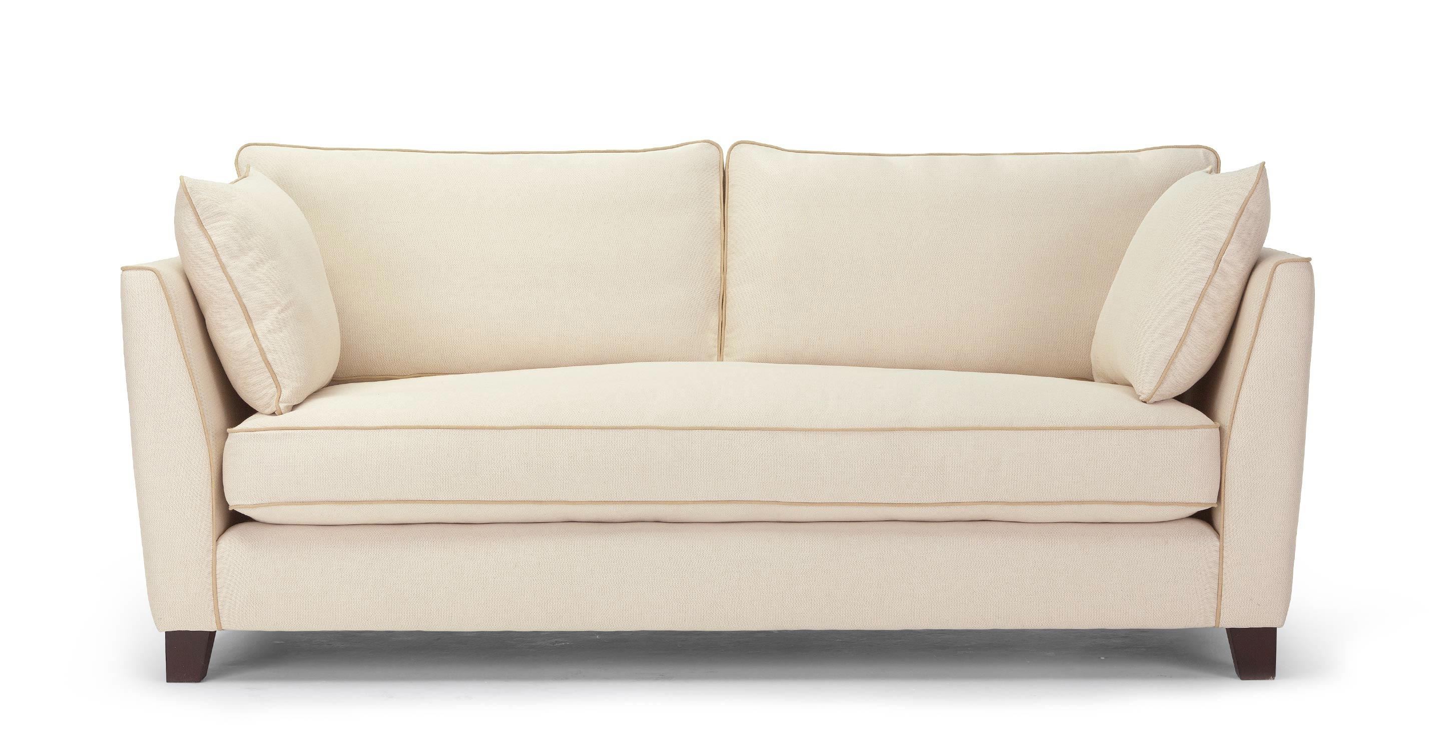Cream sofa gabrielle living room sofa loveseat cream 334603 thesofa Couches and loveseats