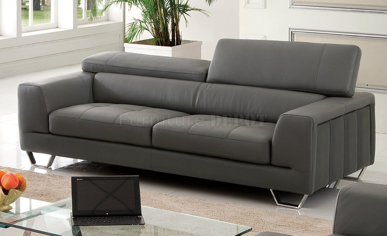 Ordinaire Inspirational Gray Leather Sofa 37 About Remodel Sofa Design Ideas With Gray  Leather Sofa