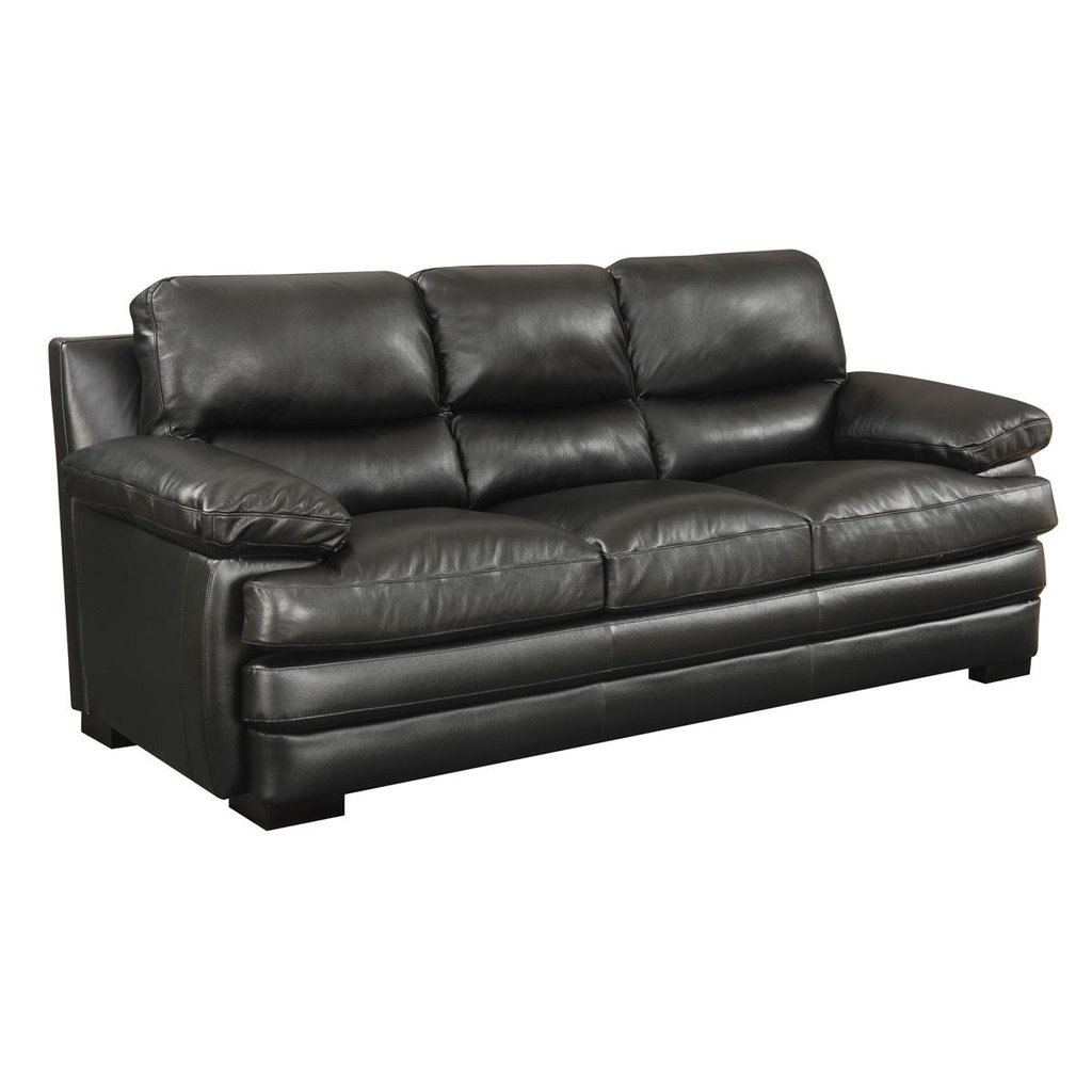 Black Leather Sleeper Sofa Sofa The Honoroak