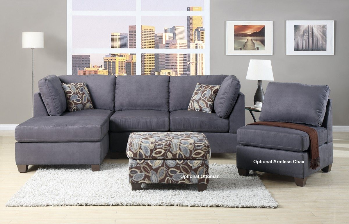 Luxury Microfiber Sectional Sofa With Chaise 19 With Additional