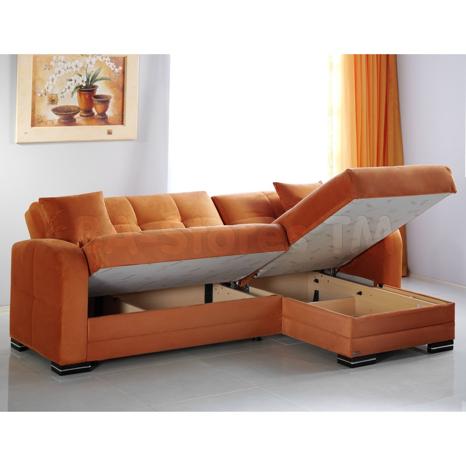 Unique Orange Sectional Sofa 14 For Your Living Room Sofa Ideas with