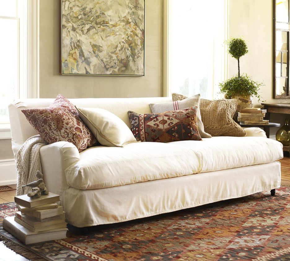 Trend Pottery Barn Slipcover Couch 67 With Additional Sofa Room Ideas