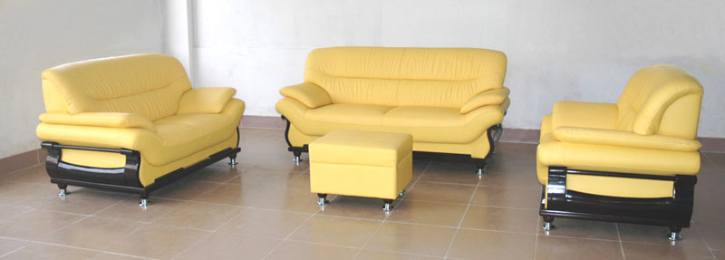 Yellow Leather Sofa Yellow Leather Chesterfield Sofa