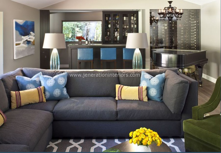 Fancy blue gray couch 95 in contemporary sofa inspiration for Blue gray sofa