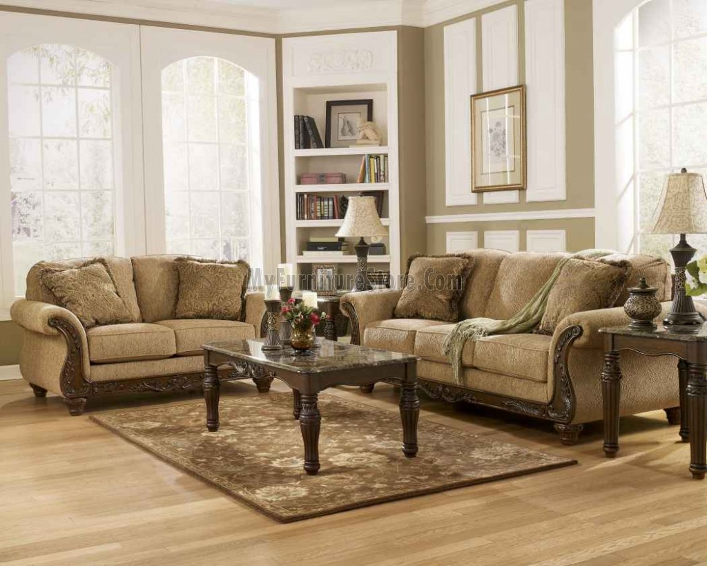 Signature ashley sofa best furniture mentor oh ashley thesofa for Ashley leather living room furniture