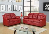 Trend Red Leather Couches 73 For Your Living Room Sofa Ideas with Red Leather Couches