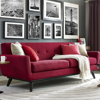 Unique Red Couch Living Room 76 For Your Sofa Table Ideas with Red Couch Living Room