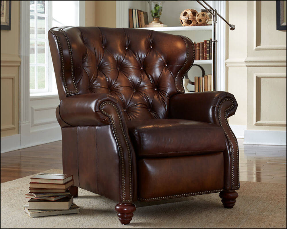 stress free recliner leather nicholas products