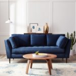 Elegant Dark Blue Sofa 75 In Modern Sofa Ideas with Dark Blue Sofa