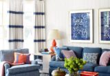Lovely Blue White Sofa 84 For Office Sofa Ideas with Blue White Sofa
