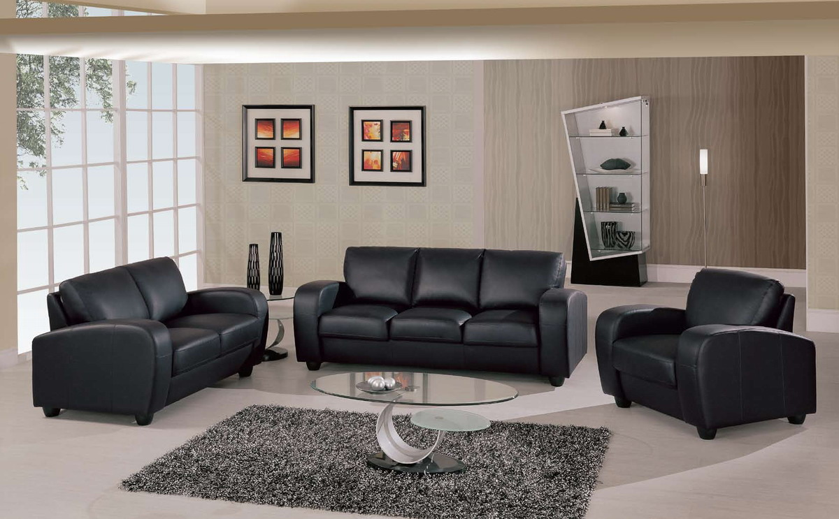 Perfect Leather Black Sofa Set 31 In Living Room Sofa Ideas with ...