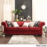 Perfect Red Linen Sofa 14 For Your Modern Sofa Inspiration with Red Linen Sofa