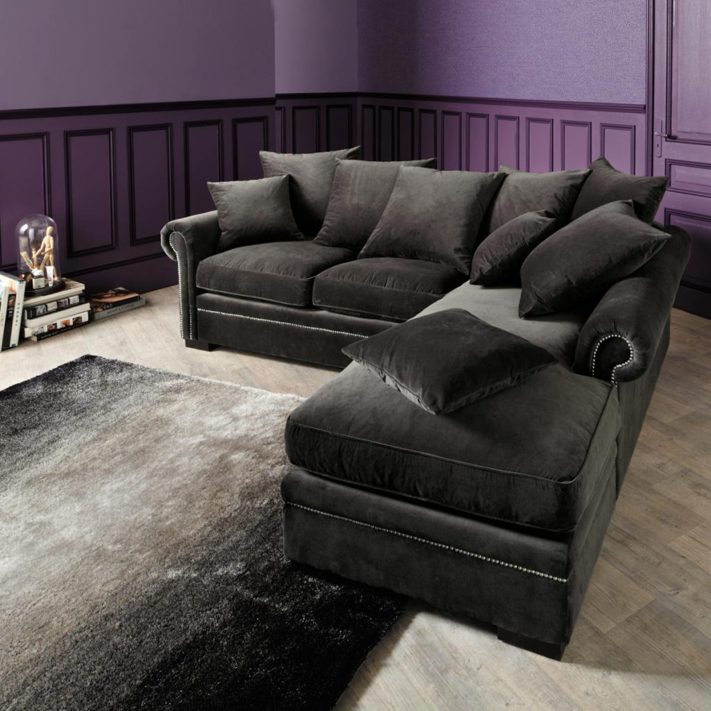 Awesome Grey Velvet Sectional Sofa 37 For Your Sofas and Couches