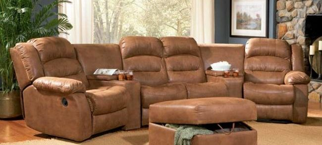 Attrayant Home Theater Sectional Sofa