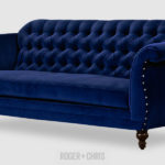 Fantastic Blue Velvet Tufted Sofa 55 For Your Sofas and Couches Ideas with Blue Velvet Tufted Sofa