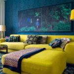 Amazing Blue And Yellow Sofa 75 About Remodel Sofa Design Ideas with Blue And Yellow Sofa