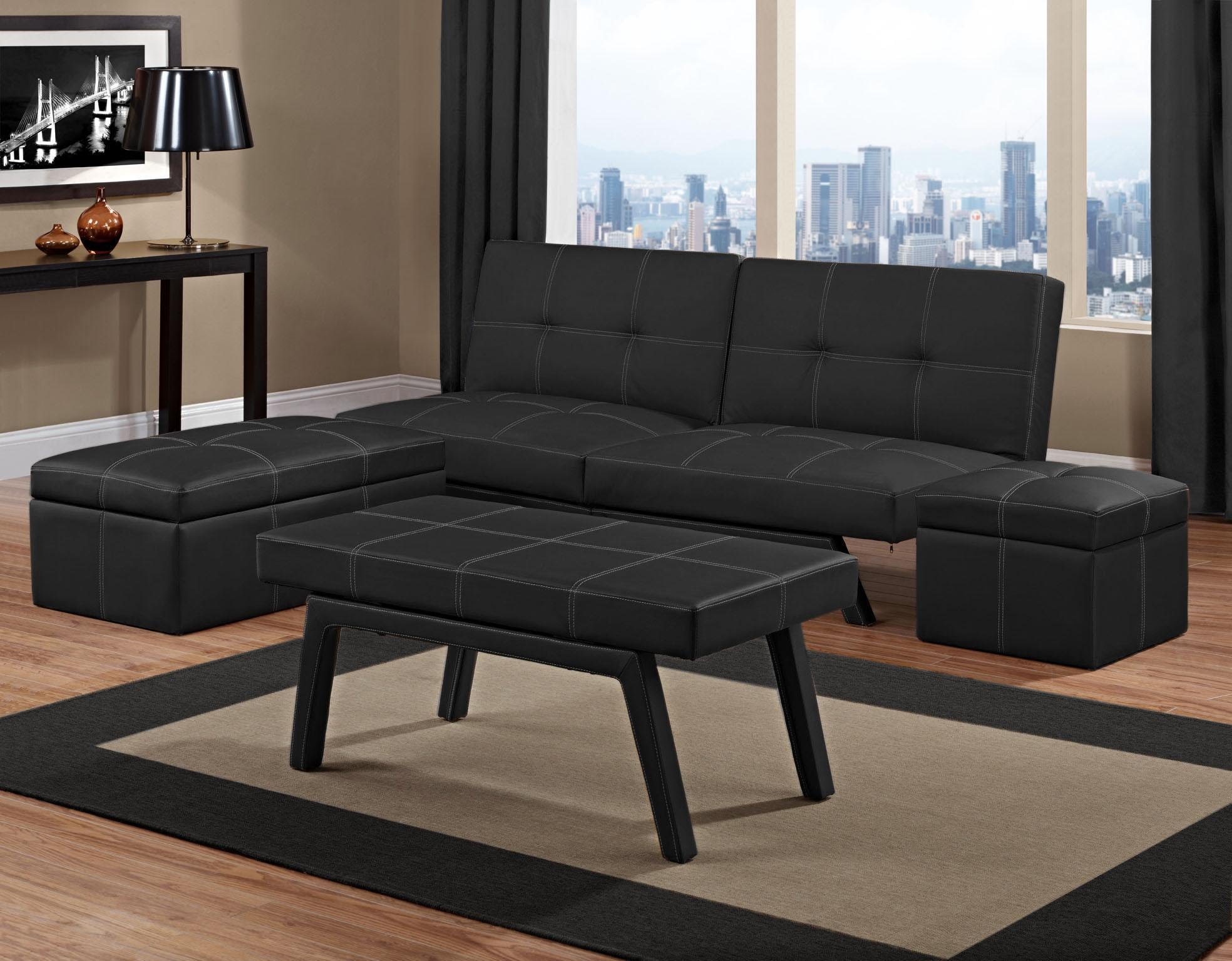 Fancy Futon Sofa Bed Living Room Set