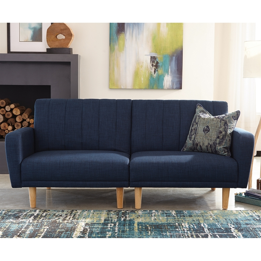 of bed full sofa fold blue navy sleeper hide a size sofas out convertible couch