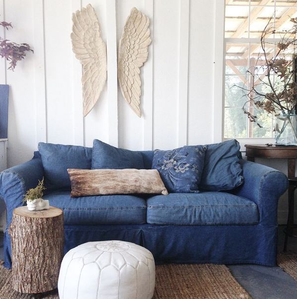 Good Blue Denim Sofa Couch 55 In Sofa Room Ideas with Blue Denim Sofa Couch