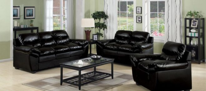 Gorgeous Black Leather Sofa And Chair 22 On Modern Sofa Ideas with Black Leather Sofa And Chair