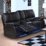 Lovely Leather Reclining Sofa With Console 11 On Contemporary Sofa Inspiration with Leather Reclining Sofa With Console