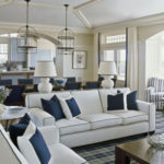 Lovely White Sofa With Blue Piping 93 In Sofa Room Ideas with White Sofa With Blue Piping