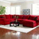 Magnificent Red Sofa With Ottoman 60 In Living Room Sofa Ideas with Red Sofa With Ottoman