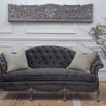 Perfect Gray Velvet Tufted Sofa 87 For Your Sofa Room Ideas with Gray Velvet Tufted Sofa