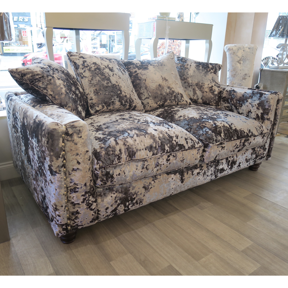 Super Champagne Crushed Velvet Sofa 68 About Remodel Room Ideas With