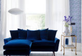 Trend Small Blue Velvet Sofa 64 For Your Sofa Room Ideas with Small Blue Velvet Sofa