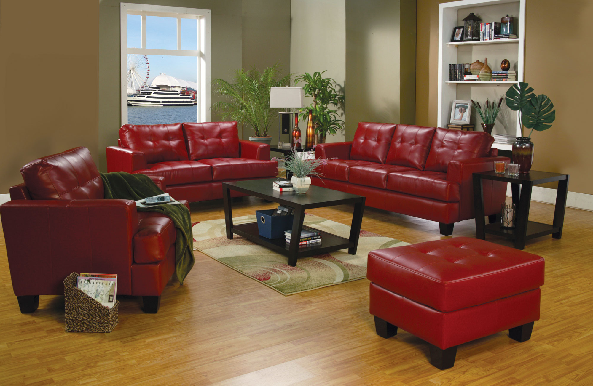 Unique Red Sofa With Ottoman 62 With Additional Sofa Table Ideas with Red Sofa With Ottoman